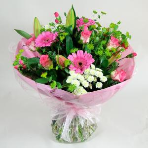 Pink & White Mixed Hand Tied