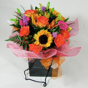 Sizzling Sunflower Hand Tied