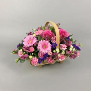 Pastel Pink Basket