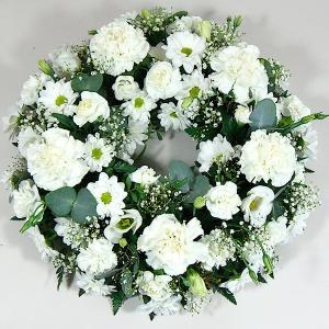 Classic Open Wreath in White