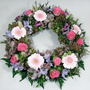 Mixed Pink & Lilac Wreath