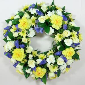 Yellow & Purple Wreath