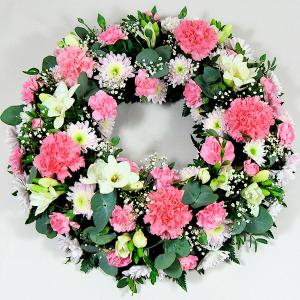 Pink & White Classic Wreath