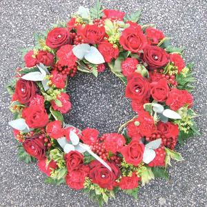 Rose & Carnation Wreath