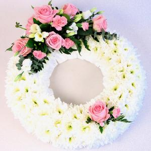 Formal Wreath in Pink & White