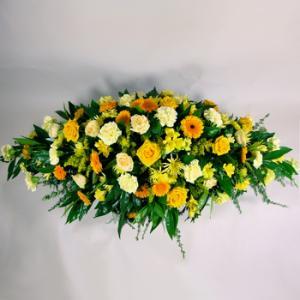Cream & Yellow Coffin Spray