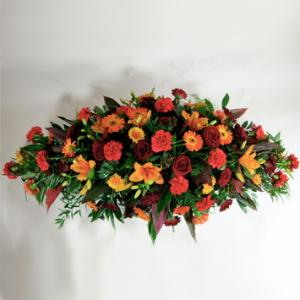 Autumn Coffin Spray
