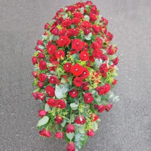 Luxury Red Rose Coffin Spray